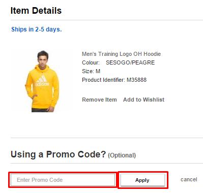 Adidas India coupon code