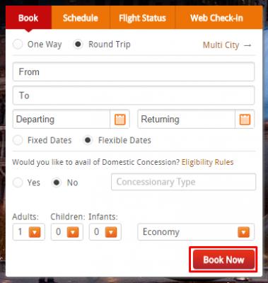 discounts at AirIndia