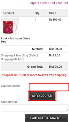 India Circus coupon code