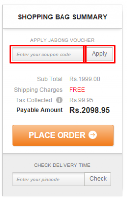 Jabong coupons 2018 january